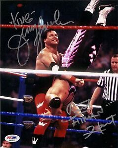 Bret-Hart-amp-King-Jerry-Lawler-Signed-WWE-8x10-Photo-PSA-DNA-COA-Auto-WWF-Hitman