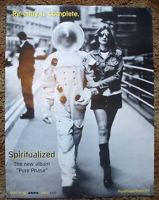 """SPIRITUALIZED PURE PHASE 1995 Spaceman Album Promo Poster Double-Sided 22"""" x 17"""""""
