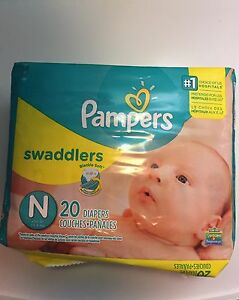 Unopened Pampers Swaddlers Newborn