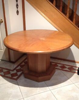 solid wood dining table with glass top x 4 free chairs dining