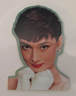AUDREY HEPBURN SHAPED VINYL STICKER  HOLLYWOOD STAR BEAUTY ACTRESS