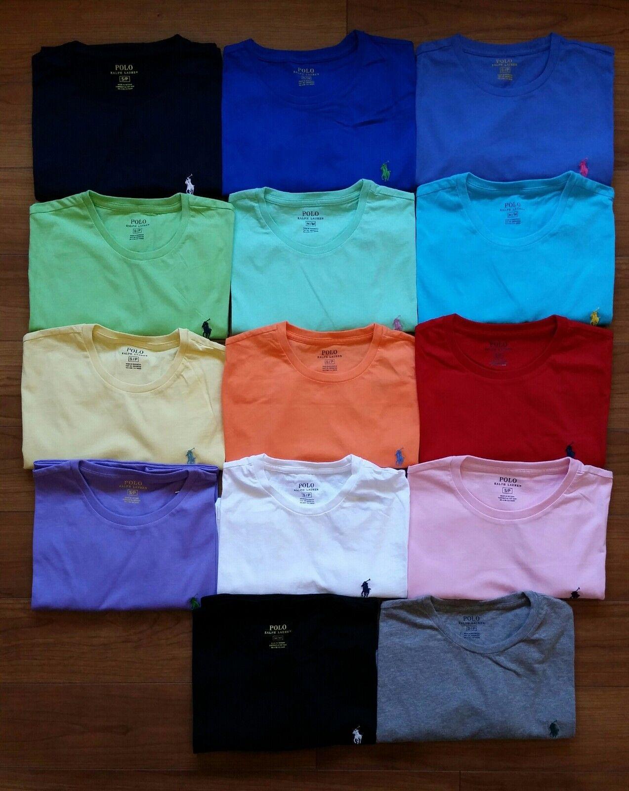 NEW Men Polo Ralph Lauren Crew Neck T Shirt Size S M L XL XXL - STANDARD FIT.