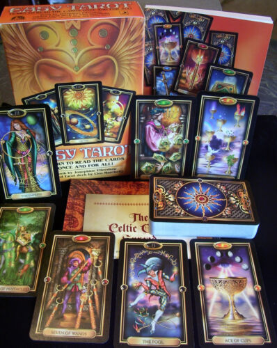 BRAND NEW SEALED! BEAUTIFUL EASY TAROT CARD & BOOK ORACLE GREAT FOR BEGINNERS!