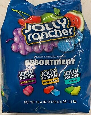 NEW JOLLY RANCHER ASSORTMENT HARD CANDY CHEWS CRUNCH'N CHEW 48.4 OZ BAG BUY IT (Jolly Rancher Chews)