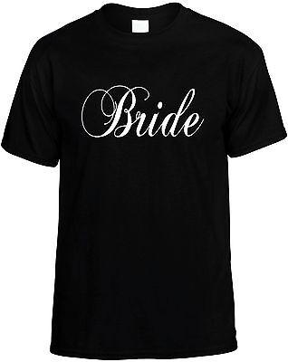 Wedding Party Ideas (Bride - Womens Unisex Bridal Wedding Party Novelty T-Shirt - Great Gift)