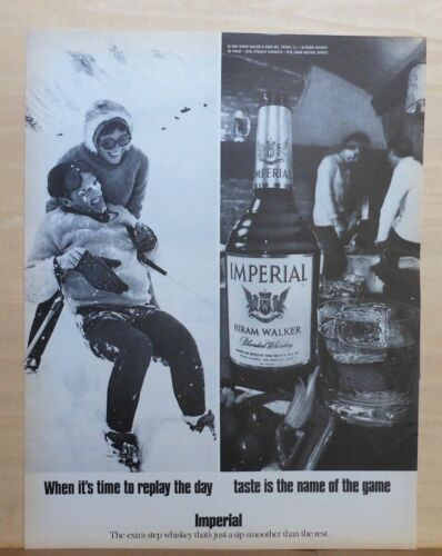 1970 magazine ad for Imperial Whiskey - Skiers, When it