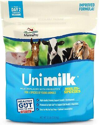 3.5 Lb Multi-species Milk Replacer 94540206 Improved Manna Pro Unimilk