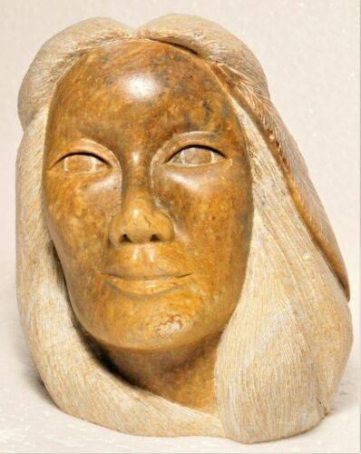Native Canadian soapstone carving sculpture by Loreene Henry