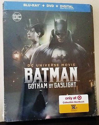 BATMAN: GOTHAM BY GASLIGHT Blu-ray + DVD Target Limited Ed. Exclusive STEELBOOK