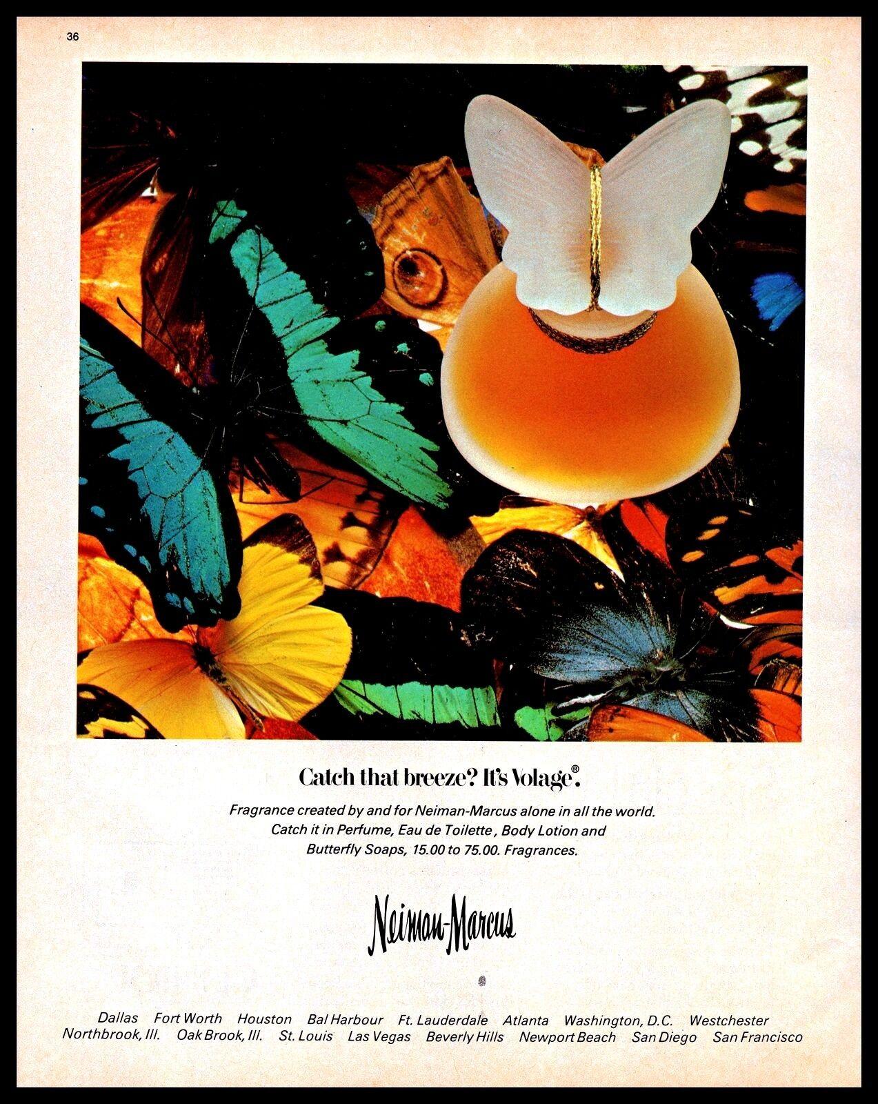 a6f62e32e 1983 Volage Perfume Fragrance Neiman Marcus Vintage 1980s Photo Print Ad