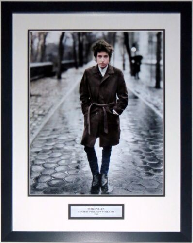 BOB DYLAN 1965 NEW YORK CITY 16X20 EARLY PHOTO PROFESSIONALLY FRAMED W/PLATE