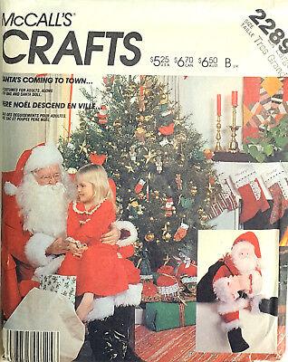 MCCALL'S Muster Weihnachtsmann Kostüm Tüte & Spielzeug den Zirka 1950s Größe XL