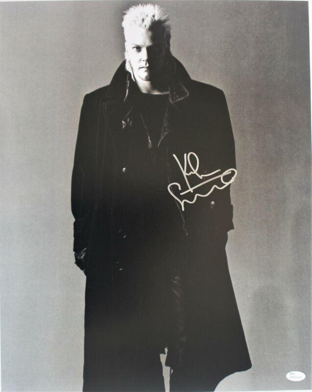 Kiefer Sutherland Autograph 16x20 Photo The Lost Boys Signed JSA COA Z1