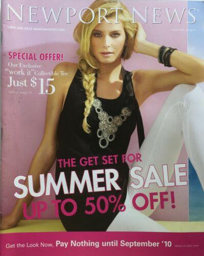Summer 2010 NEWPORT NEWS Catalog  ADRIANA LIMA / SARA STOUT / SHANINA SHAIK