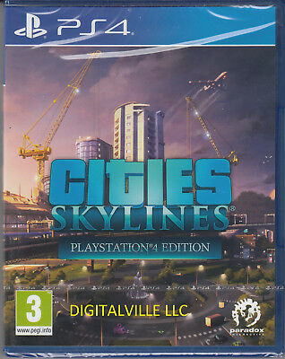 Cities Skylines PS4 PlayStation 4 Brand New Factory Sealed Simcity Game