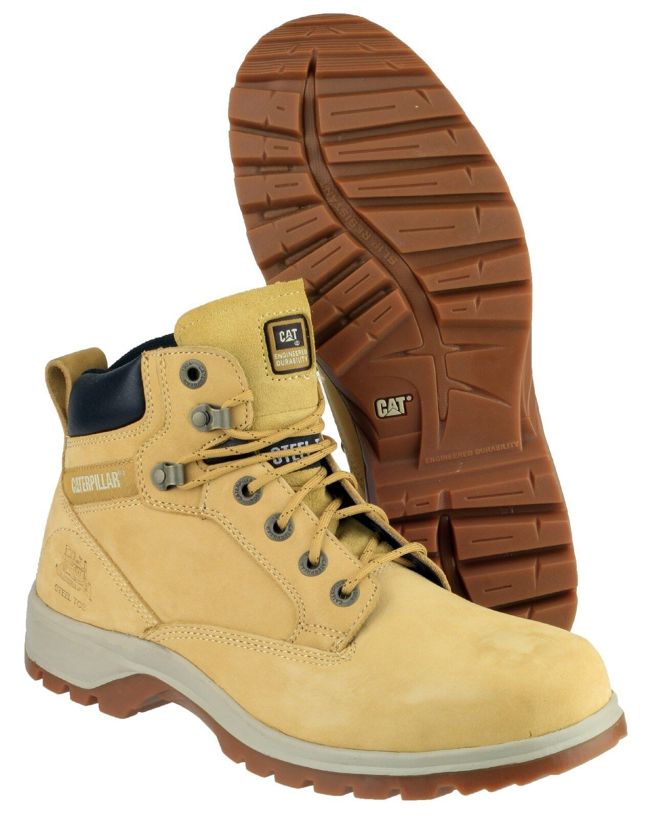 CAT Caterpillar Kitson Safety Boots Womens Steel Toe Cap Hiker Work Shoes 39f22387e8