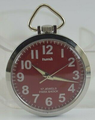 Vintage HMT 17Jewels Winding Pocket Watch For Unisex Use Working Good D-262-24
