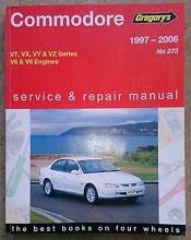 Gregory's VT VX VY VZ Commodore Service Manual V6 and V8 engines Mawson Woden Valley Preview