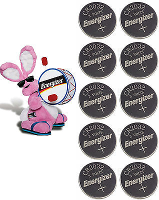 10 Genuine BRAND NEW Energizer CR2032 Lithium Coin Cell Batteries 3V  Exp 2024