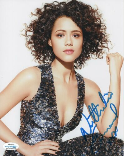 Nathalie Emmanuelle Sexy Game of Thrones Autographed Signed 8x10 Photo ACOA #3