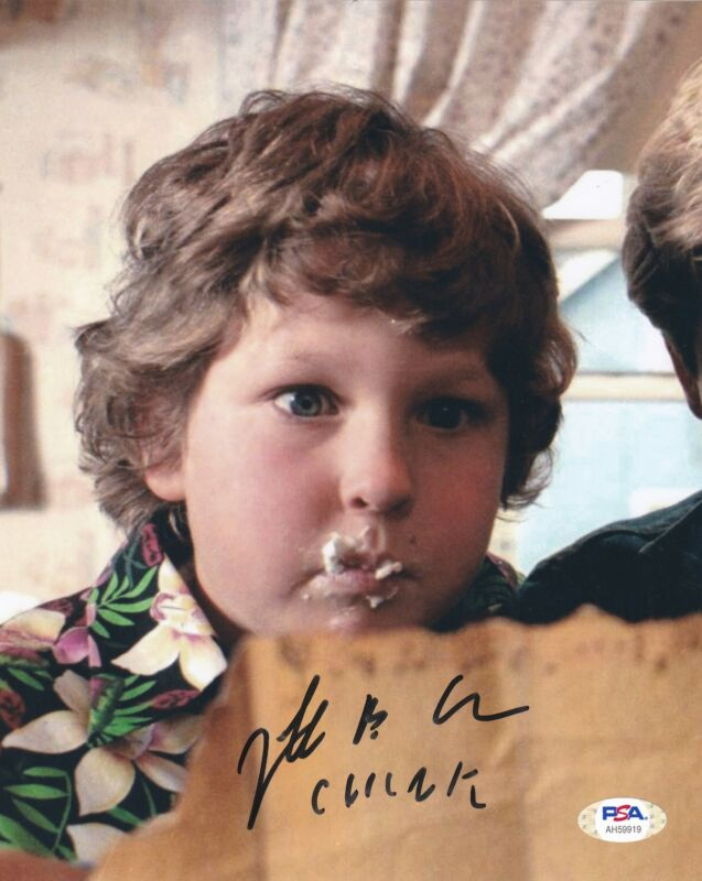 Jeff Cohen Signed 8x10 photo The Goonies Chunk #2 PSA DNA