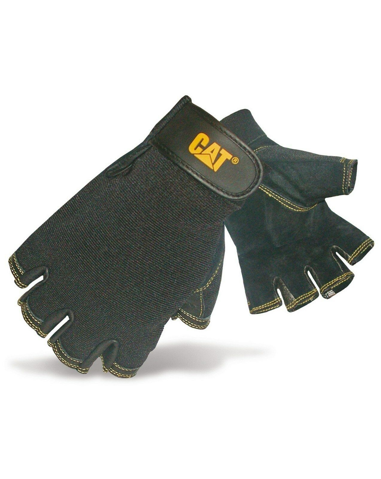 CAT Caterpillar Adjustable Gloves Mens Water Resistant Durable Work