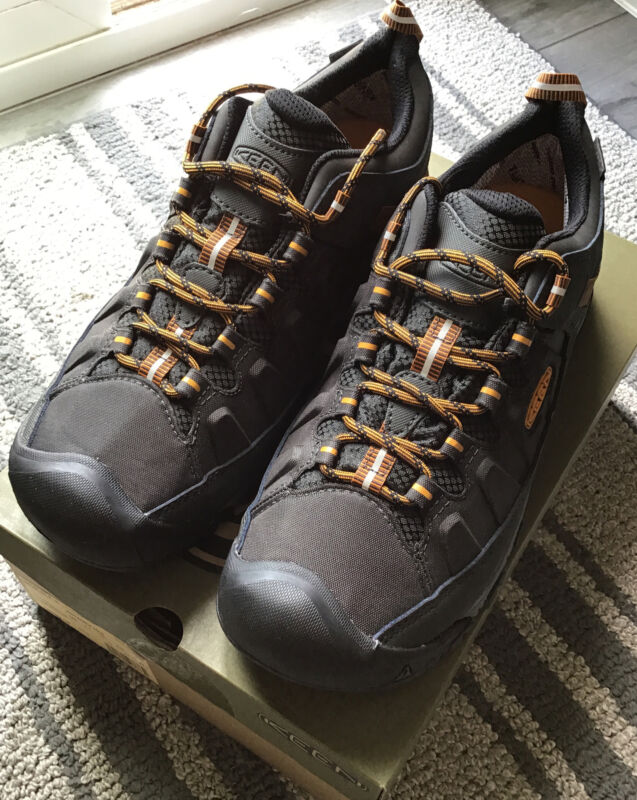 NWB Men's Keen Targhee EXP WP Raven/Inca Gold Waterproof low hiking shoes 11