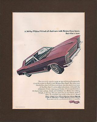 1965 Buick Riviera, Mounted Original 1965 Advertisements x 4