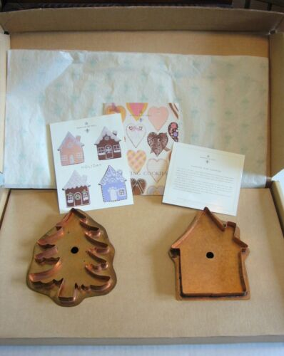 MARTHA BY MAIL STEWART COPPER COOKIE CUTTERS - LITTLE HOUSE & OH CHRISTMAS TREE