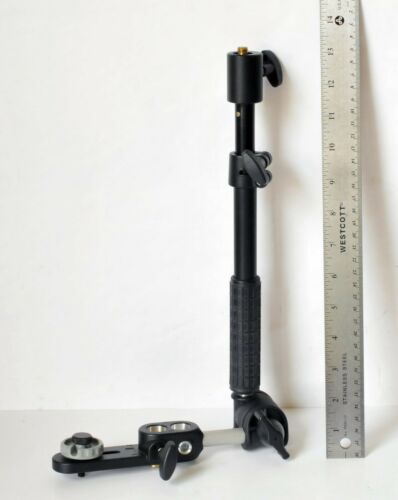 Manfrotto Variable Friction Magic Arm with Camera Platform Rare Find Unused