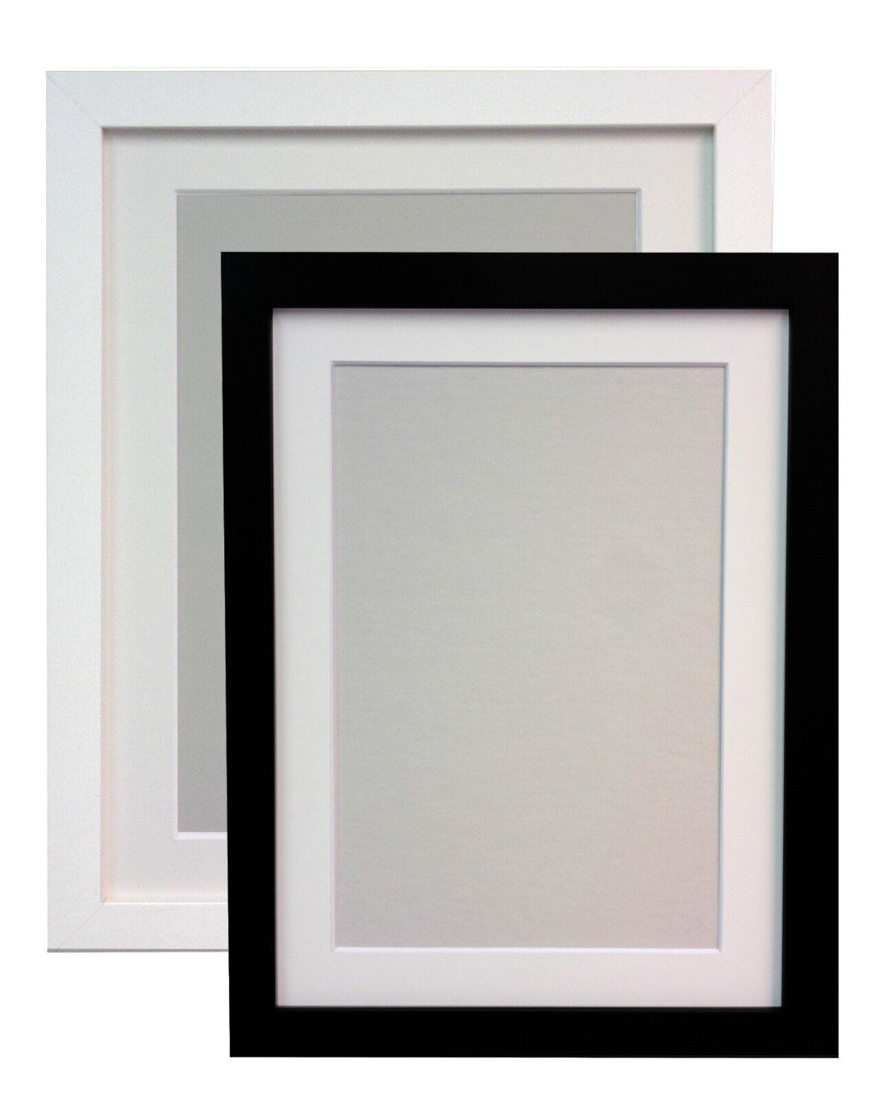 black or white large photo picture frames white black or ivory mounts mdf h7 ebay. Black Bedroom Furniture Sets. Home Design Ideas