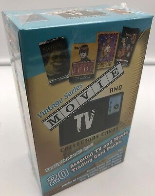 Movie and TV Collector Trading Card Unopened Pack Box Vintage Series 20 count