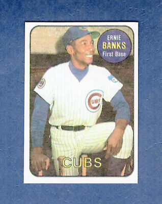 #7 ERNIE BANKS, Chicago Cubs (1986 Sports Design Products/SDP) Hall of Fame HOF