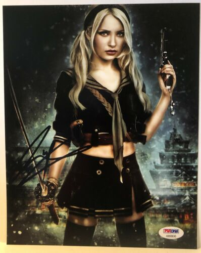 "EMILY BROWNING  ""SUCKER PUNCH"" SIGNED 8x10 PHOTO #1  AUTHENTIC PSA DNA REPRINT"