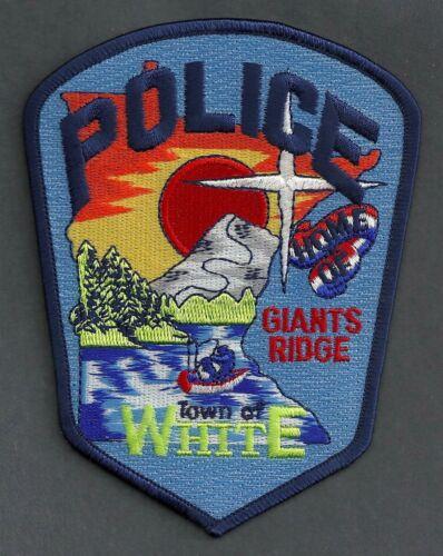 WHITE MINNESOTA POLICE SHOULDER PATCH