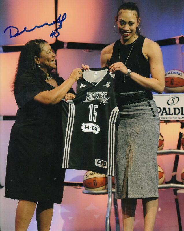 DEARICA HAMBY signed (LAS VEGAS ACES) WNBA *SAN ANTONIO STARS*  8X10 W/COA
