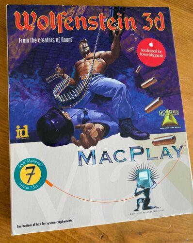"""MacPlay Wolfenstein 3D Computer Game Apple Mac Macintosh 3.5"""" Floppy Disk"""