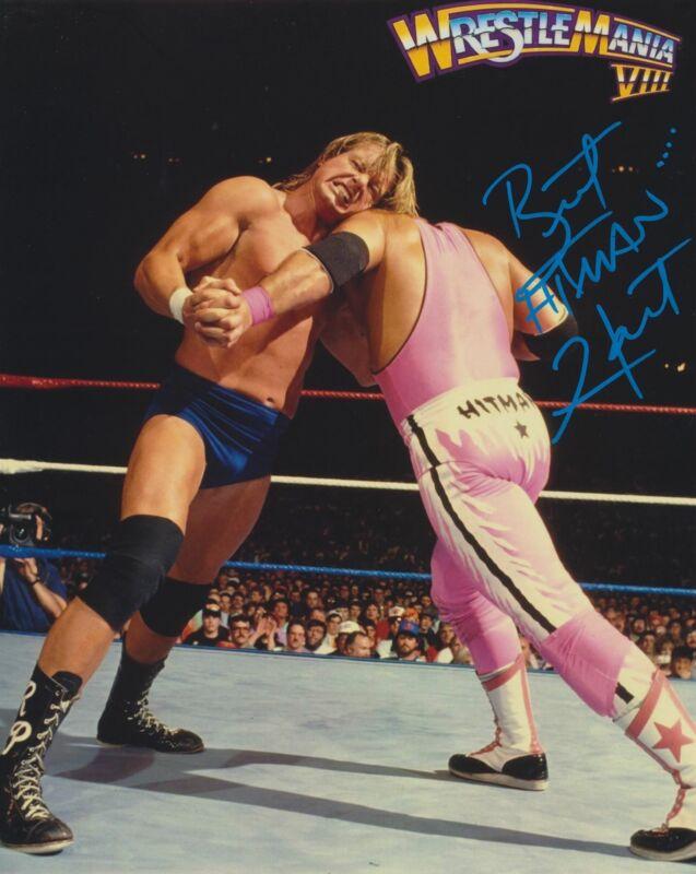 BRET THE HITMAN HART SIGNED WWE WWF 8X10 PHOTO 13