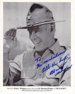 Harry Morgan Mash Colonel Potter Autograph Hand Signed 8X10 Print