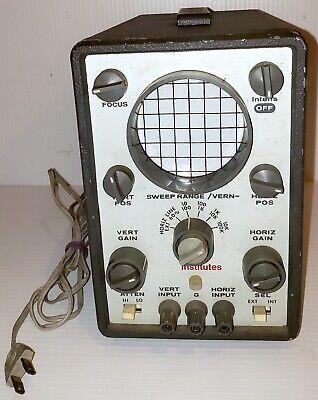 Rca Institutes Crt Display Oscilloscope 89353 Vintage See Listing
