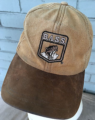 BASS Anglers Canvas Beat Up Fishing Strapback Baseball Cap Hat Distressed  - Dead Fish Hat