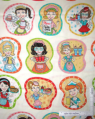 "Waitress Menu Milk Shake Hot Dog Fries Barbara's Diner Elizabeths Studio  - 21"""