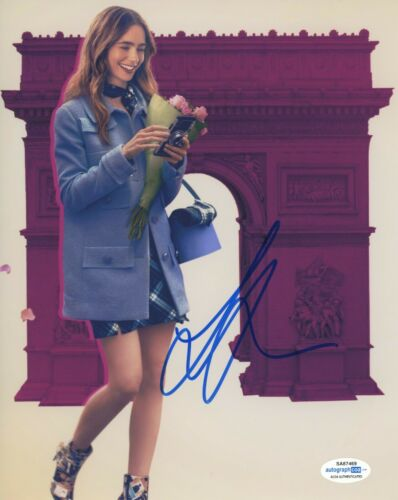 Lily Collins Emily in Paris Autographed Signed 8x10 Photo ACOA