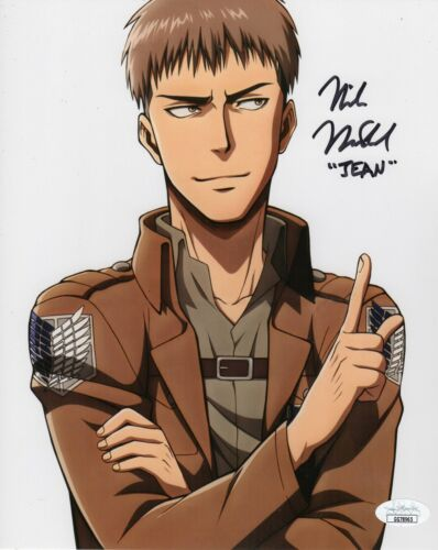 "Mike McFarland Autograph Signed 8x10 Photo - Attack on Titan ""Jean"" (JSA COA)"