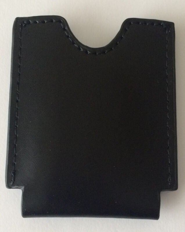 Black Leather Case Pouch For S.T. Dupont Maxijet Cigar Cutter, New In Box