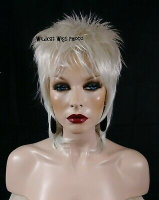 ROD Wig . White! .. Katy Perry, Lady Gaga, Pink, Rock Star Wig UNISEX - Katy Perry Wigs