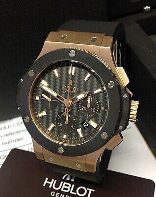 Hublot Big Bang 301.PM.1780.RX 44mm Watch Rose Gold 2011 With Papers SERVICED