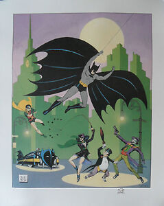 BOB-KANE-Signed-26x22-Ltd-Edition-Lithograph-Print-BATMAN-The-Golden-Years-COA