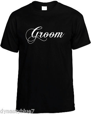 Wedding Party Ideas (Groom Mens Unisex Wedding Party Novelty T-Shirt  Great Gift)
