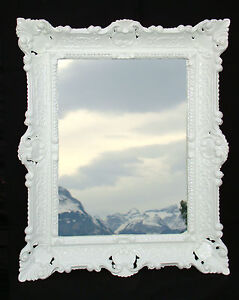 spiegel antik wandspiegel wei barockspiegel rechteckig. Black Bedroom Furniture Sets. Home Design Ideas